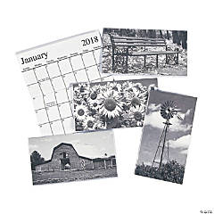 2018 - 2019 Black & White Pocket Planners