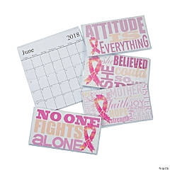 2018-2019 Pink Ribbon Pocket Calendars