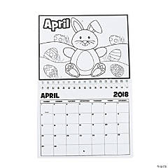 2018 Color Your Own Calendar
