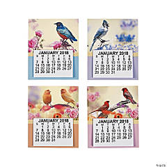 2018 Large Print Bird Calendar Magnets
