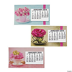 2018 Large Print Flowers Calendar Magnets