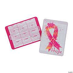 2018 Pink Ribbon Wallet Card Calendars