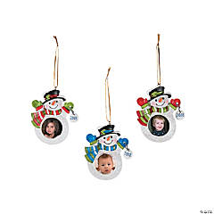 2018 Snowman Picture Frame Ornaments