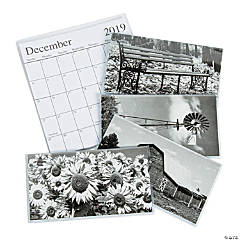 2019 - 2020 Black & White Pocket Calendars