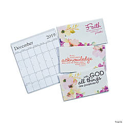 2019 - 2020 Faith Watercolors Pocket Calendars