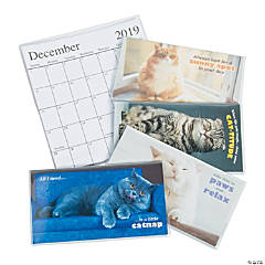 2019 - 2020 Fat Cat Pocket Calendars