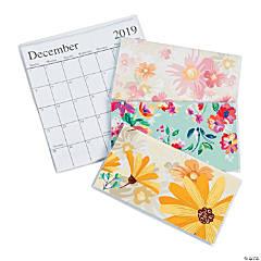 2019 - 2020 Floral Pocket Calendars