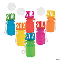 2019 Bright Graduation Bubble Bottles