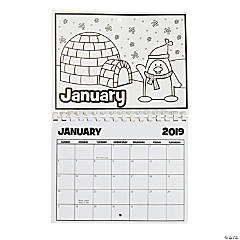 2019 Color Your Own Calendar