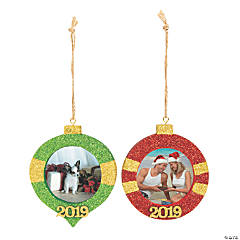 2019 Glitter Picture Frame Ornaments