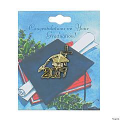 2019 Graduation Cross Lapel Pin with Card
