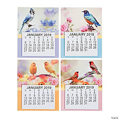 2019 Large Print Bird Calendar Magnets