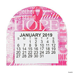 2019 Pink Ribbon Faith Calendar Magnets