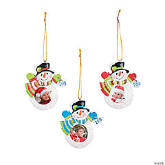 2019 Snowman Picture Frame Ornaments