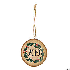 2019 Wood Slice Ornaments