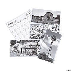 2020 - 2021 Black & White Pocket Calendars