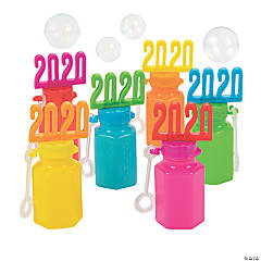 2020 Bright Graduation Bubble Bottles