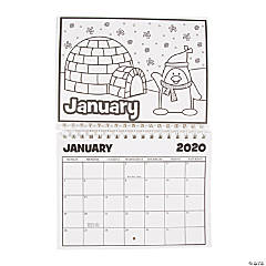 2020 Color Your Own Calendar