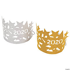 2020 Gold & Silver Glitter Crowns