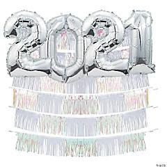 2020 Iridescent Fringe Backdrop Kit