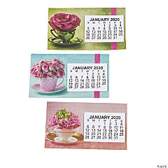 2020 Large Print Flower Calendar Magnets