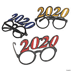 2020 New Year's Eve Circle Glasses