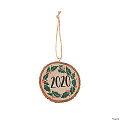 2020 Wood Slice Ornaments