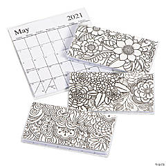 2021 - 2022 Adult Coloring Pocket Calendars