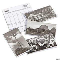 2021 - 2022 Black & White Pocket Calendars