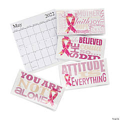 2021 - 2022 Pink Ribbon Pocket Calendars