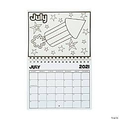 2021 Color Your Own Calendar