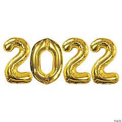2021 Gold Mylar Balloon Kit