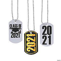 2021 Graduation Dog Tag Necklaces
