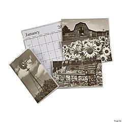 2022 - 2023 Black & White Pocket Calendars