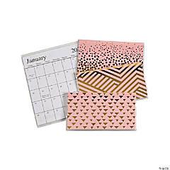 2022 - 2023 Pink & Gold Pocket Calendars