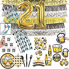 21st Birthday Bash Tableware Kit for 8 Guests