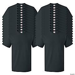 24 Black Adult's T-Shirts - Large