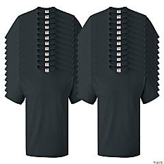 24 Black Adult's T-Shirts - Small