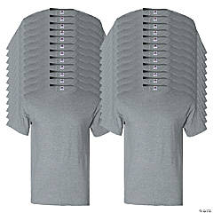 24 Gray Adult's T-Shirts - Large