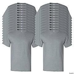 24 Gray Adult's T-Shirts - Medium