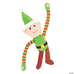 "24"" Large Long Arm Plush Elf"