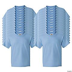 24 Light Blue Youth T-Shirts - Medium