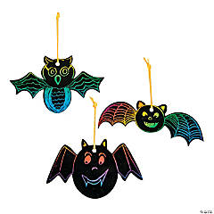 24 Magic Color Scratch Bat Ornaments