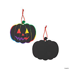 24 Magic Color Scratch Pumpkin Ornaments