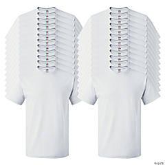 24 White Adult's T-Shirts - 2XL