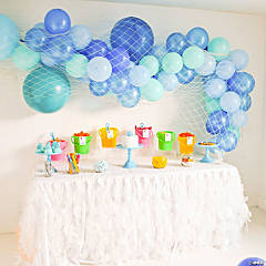 25-Ft. Blue Sea Balloon Garland Kit with Fish Net