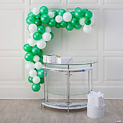 25-Ft. Green & White Balloon Garland Kit with Air Pump