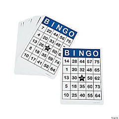 25 Pc. Laminated Jumbo Bingo Cards