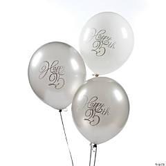 25th Anniversary Latex Balloons