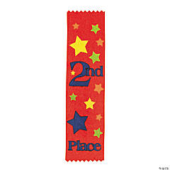 """""""2nd Place"""" Red Award Ribbons"""